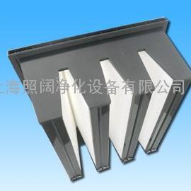 组合式V型高效空气过滤器|单法兰V型过滤网|箱式V型过滤网