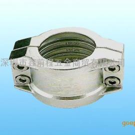 DIN2817不锈钢安全管夹EN14420-3软管抱箍拉瓦
