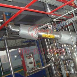 工业液氮排气管保温衣,宁波管道保温被,可拆卸式管道保温套