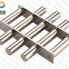 圆形磁格栅,磁力架,磁滤网,除铁磁棒,吸铁磁棒,吸铁棒,磁棒架