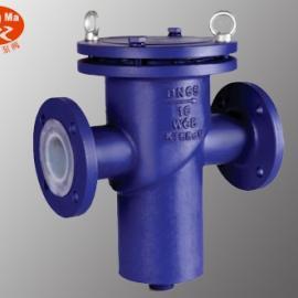 GL41F46衬氟蓝式过滤器,铸钢衬四氟蓝式过滤器