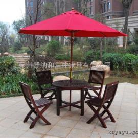 广州菠萝格休闲桌椅