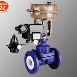 ZMATF46衬氟气动隔膜阀,气动衬氟隔膜阀,气动隔膜阀