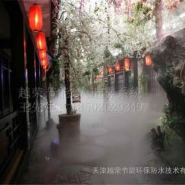 天津车站人造雾,天津湖中人造雾,天津河水人造雾