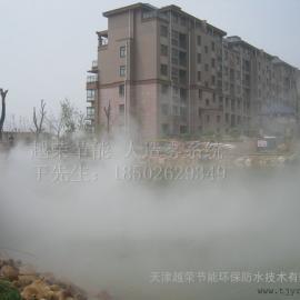天津高尔夫球场人工造雾森系统,天津喷泉旁边造雾设备