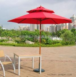 广州双层铝伞厂家直销/别墅花园的中柱伞