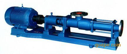 G型单螺杆泵 卧式污泥泵 卧式螺杆泵