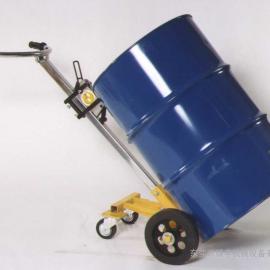 机械式油桶搬运车,咬嘴式油桶车,简易400KG圆桶搬运车
