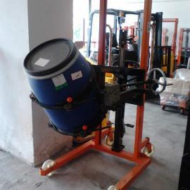 番禺倾斜式油桶叉车/广州油桶升高倒料车