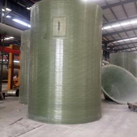 圆柱体玻璃钢水箱;四川玻璃钢水箱安装与销售
