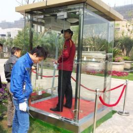 无锡钢化玻璃岗亭