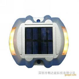供应6led太阳能道钉 led铸铝道钉 双面反光道钉
