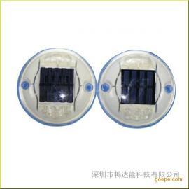 供应太阳能圆塑料道钉 发光道钉灯 路钉灯
