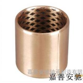 固体镶嵌青铜卷制轴承,无给油铜套,自润滑轴承