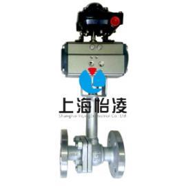 低温阀门|上海怡凌DQ641气动低温法兰球阀