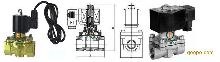四,水下电磁阀技术参数图片