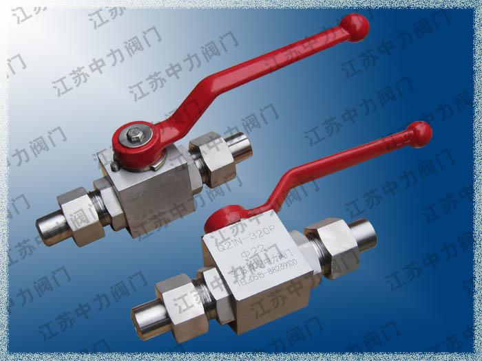 Q91N-320P天然气MTU密封不锈钢高压卡套球阀