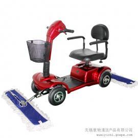 酒店用驾驶式拖地车 四轮电动尘推车C101-1