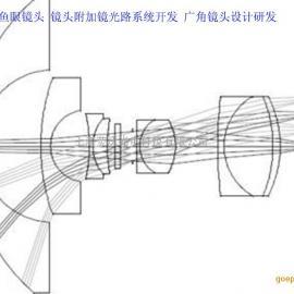 鱼眼镜头 镜头附加镜光路系统开发 广角镜头设计研发