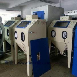 手动喷砂机工厂现货供应 6050箱式手动喷砂机 百诚喷砂机
