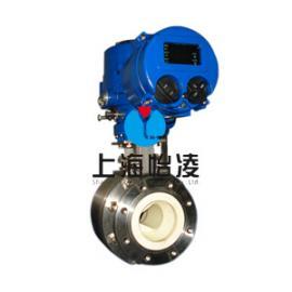 陶瓷球阀|上海怡凌VQ941TC电动V型陶瓷球阀