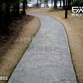 水泥压印路面,压模地面,压花地坪,混凝土印模地面