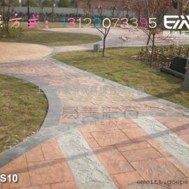 彩色印模地坪,压花路面,压模地面,仿石混凝土