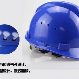 透气型安全帽 v型ABS材质 防砸帽 工地施工帽子 带透气孔