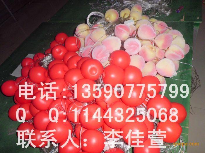 广东红苹果灯饰|春节街道树木两旁装饰灯亮化|led苹果灯串