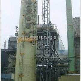 安全玻璃尾气吸收塔,酸雾吸收塔,工艺师厂边角料清灰塔