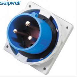 赛普供应3芯工业插头 63A 防水暗装插头IP67