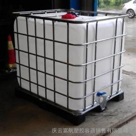 1吨方形带铁架塑料桶
