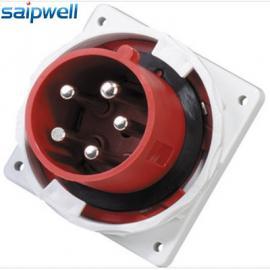 厂家直销5芯63A 工业插头IP67防水插头暗装插头