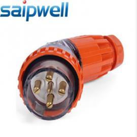 厂家直销澳式防水弯形工业插头 5P 32A IP66 插头