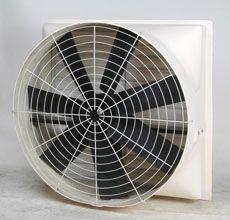 装在墙壁或窗户上的排风机方形换气扇带百叶和防护网的风机