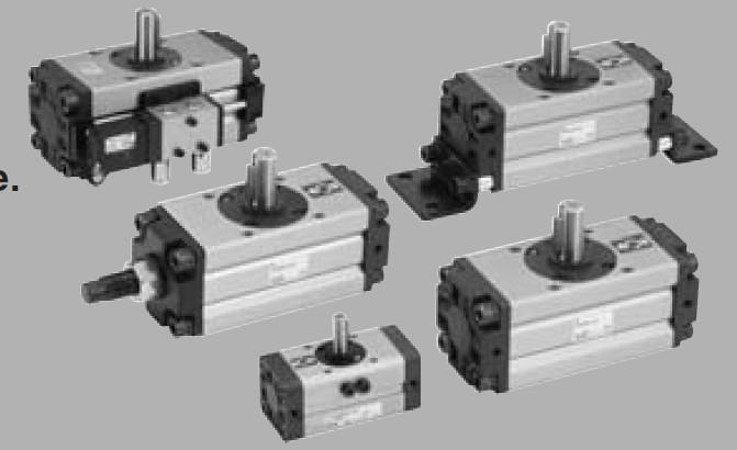 smc微型齿轮齿条式摆动气缸 crj 系列图片