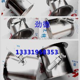 供应不锈钢201手动风量调节阀 圆形风阀 DN250