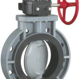 D371X-10S涡轮CPVC耐腐蚀塑料对夹蝶阀