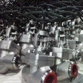 美标不锈钢承插焊截止阀J61Y-800LB