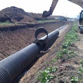 左云县HDPE钢带管,钢带增强螺旋波纹管