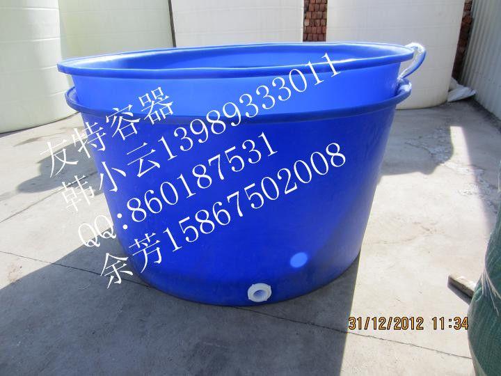 专用供应1.5吨敞口大圆桶,合肥保定1500公斤塑胶圆桶