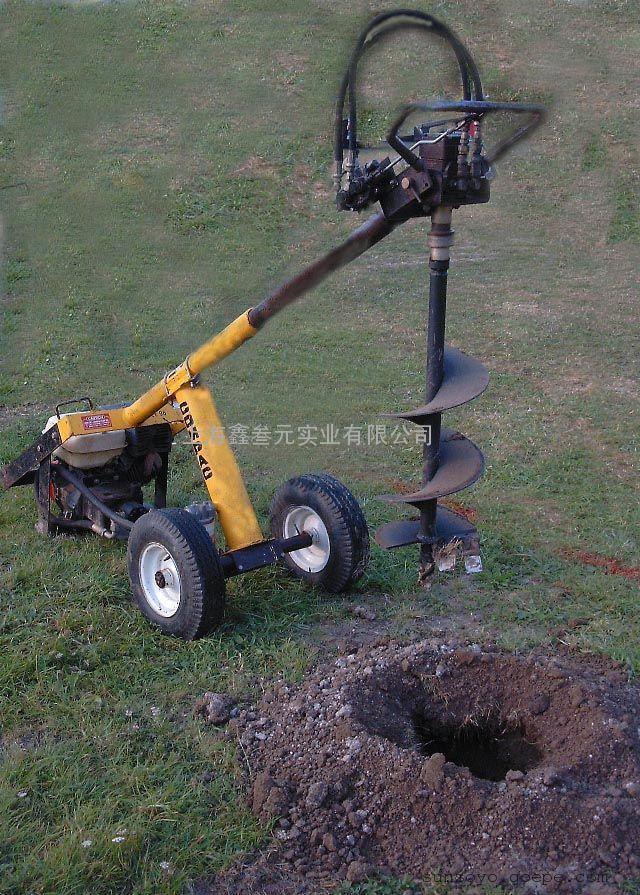 小型液压挖坑机,手推式液压挖坑机图片