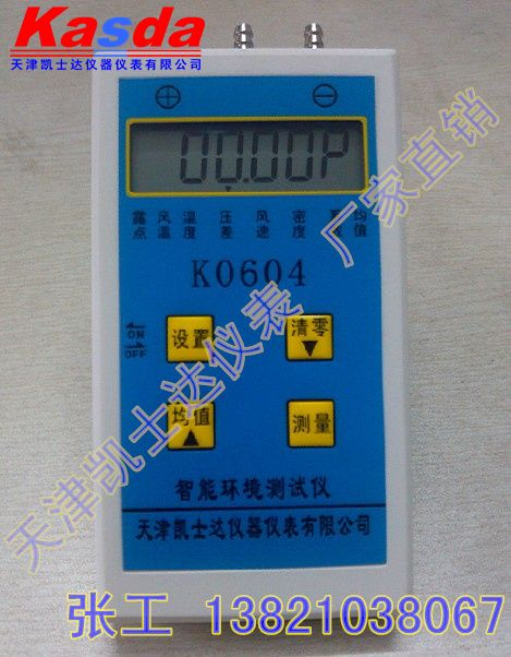 天津智能环境测试仪/温湿度风速差压检测仪