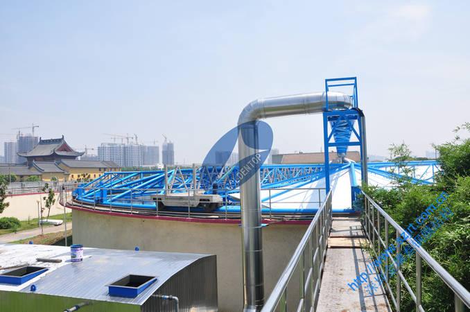 移动式初沉池密封加盖 皮革厂污水池钢反吊膜 锁定中德