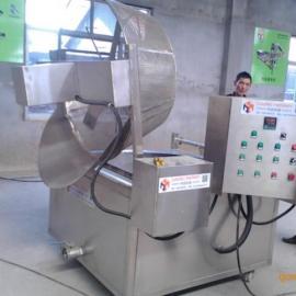 鱿鱼丝半自动油炸设备 自动出料海制品油炸机