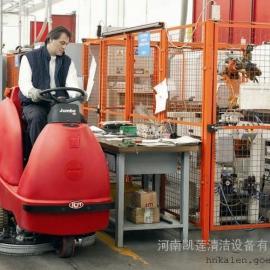 小型仓库地面洗地机品牌_郑州手推式油污地面洗地机