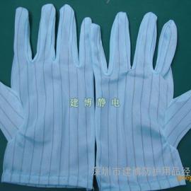 蓝色防静电手套 防静电条纹手套 蓝色条纹手套 优质出口产品