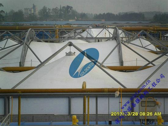 污水池加盖膜结构|皮革厂污水膜处理|联系中德