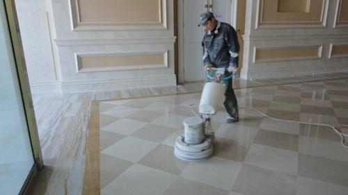 成都龙泉花岗石地板水磨石地板大理石地板翻新抛光打蜡专业公司
