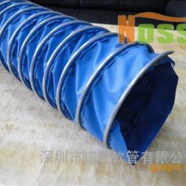 供应外表钢圈结构 矩形伸缩风管 可随意拖拉矩形风管